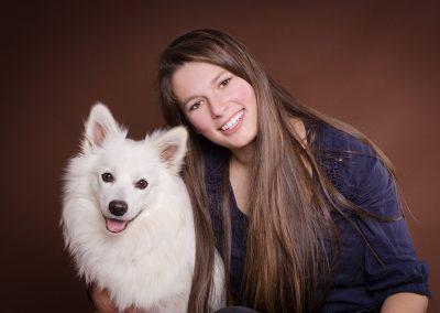 Frau-mit-Hund-Spitz-Hundefotografie